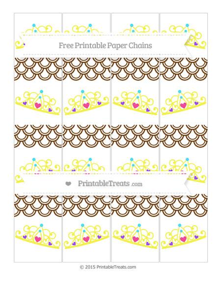 Free Sepia Fish Scale Pattern Princess Tiara Paper Chains