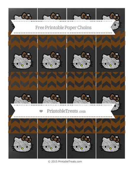 Free Sepia Herringbone Pattern Chalk Style Hello Kitty Paper Chains