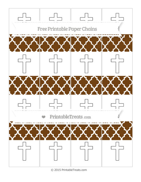Free Sepia Moroccan Tile Cross Paper Chains