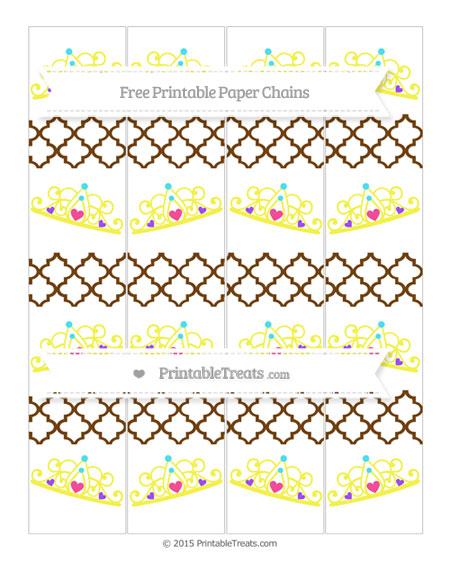 Free Sepia Moroccan Tile Princess Tiara Paper Chains