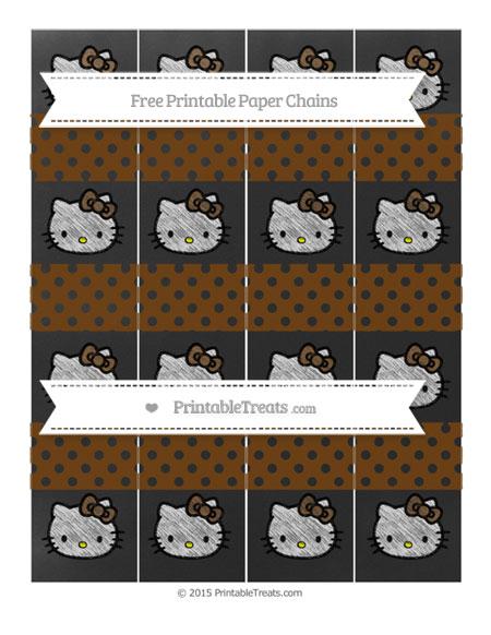 Free Sepia Polka Dot Chalk Style Hello Kitty Paper Chains