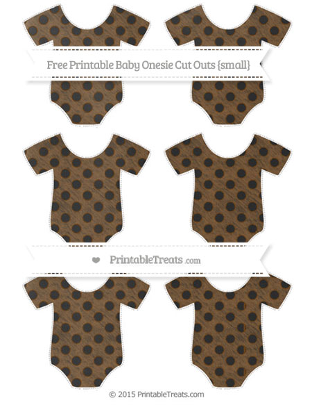 Free Sepia Polka Dot Chalk Style Small Baby Onesie Cut Outs