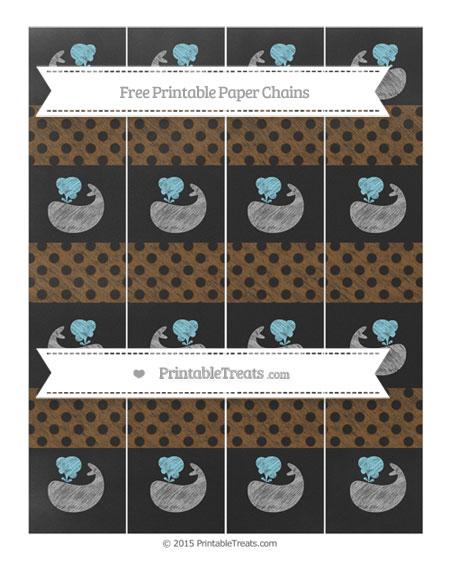 Free Sepia Polka Dot Chalk Style Whale Paper Chains