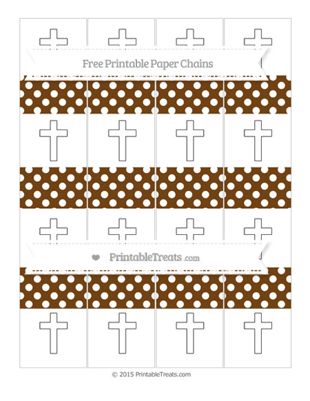 Free Sepia Polka Dot Cross Paper Chains