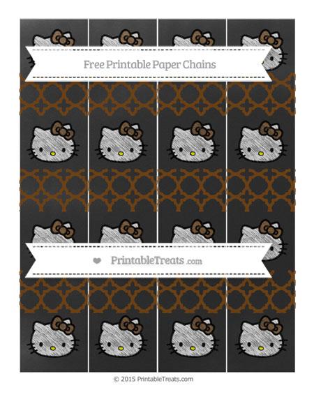 Free Sepia Quatrefoil Pattern Chalk Style Hello Kitty Paper Chains