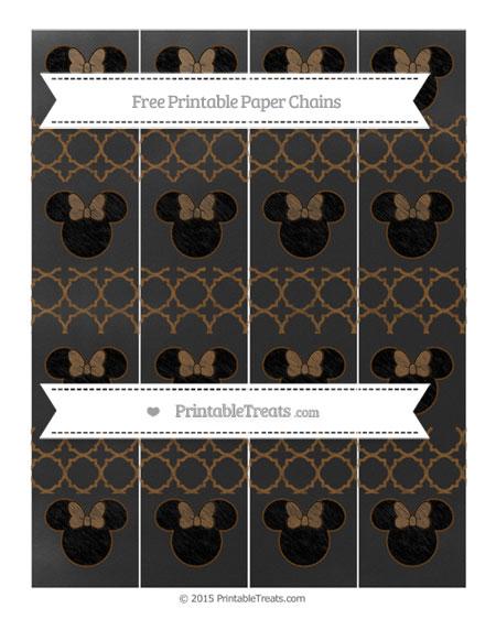 Free Sepia Quatrefoil Pattern Chalk Style Minnie Mouse Paper Chains
