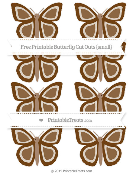 Free Sepia Small Butterfly Cut Outs