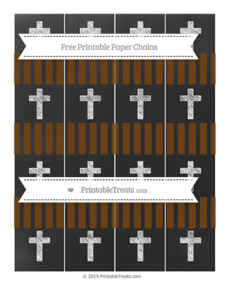 Free Sepia Striped Chalk Style Cross Paper Chains