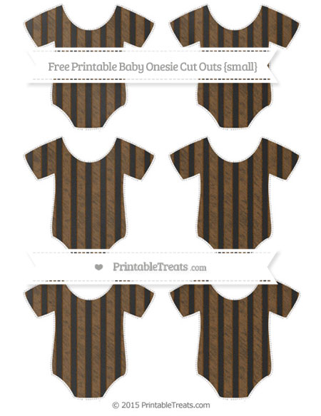 Free Sepia Striped Chalk Style Small Baby Onesie Cut Outs
