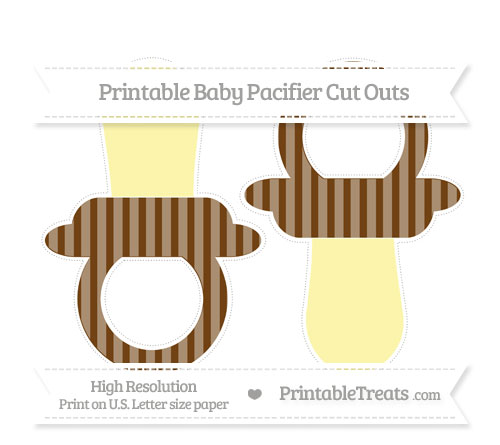Free Sepia Striped Large Baby Pacifier Cut Outs