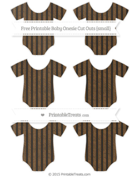Free Sepia Thin Striped Pattern Chalk Style Small Baby Onesie Cut Outs