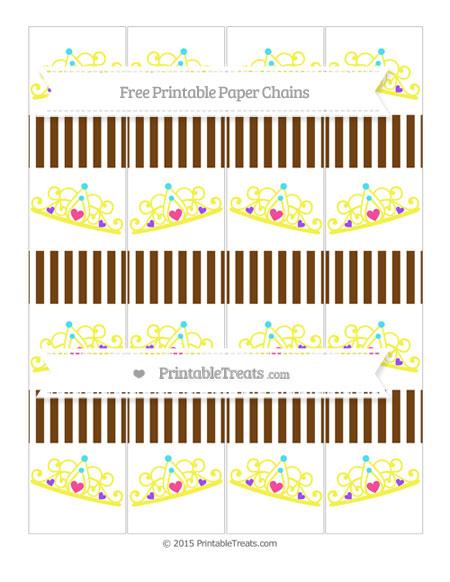 Free Sepia Thin Striped Pattern Princess Tiara Paper Chains