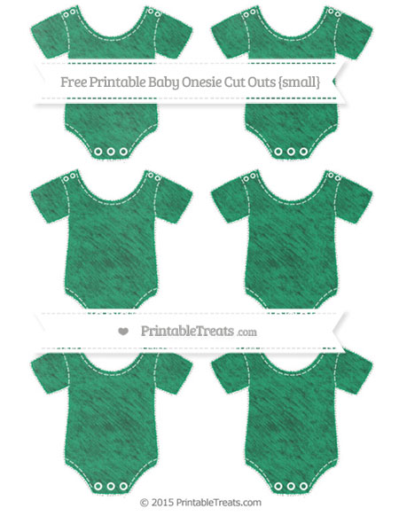Free Shamrock Green Chalk Style Small Baby Onesie Cut Outs