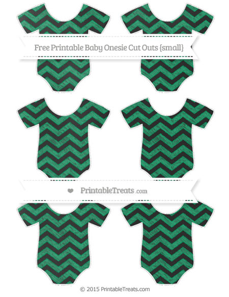 Free Shamrock Green Chevron Chalk Style Small Baby Onesie Cut Outs
