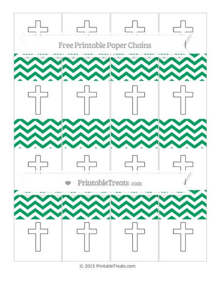 Free Shamrock Green Chevron Cross Paper Chains