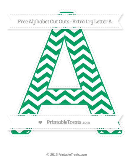 Free Shamrock Green Chevron Extra Large Capital Letter A Cut Outs