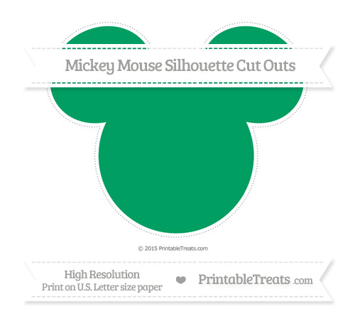 Free Shamrock Green Extra Large Mickey Mouse Silhouette Cut Outs