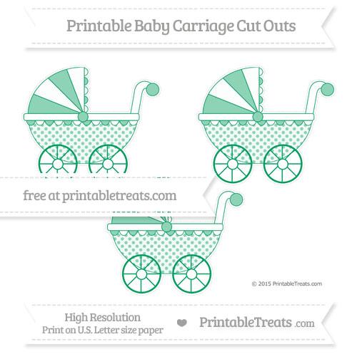 Free Shamrock Green Polka Dot Medium Baby Carriage Cut Outs