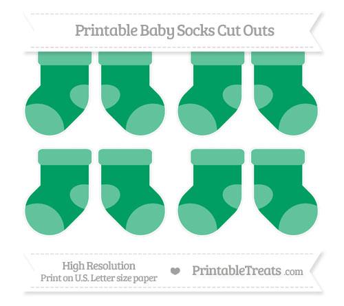 Free Shamrock Green Small Baby Socks Cut Outs
