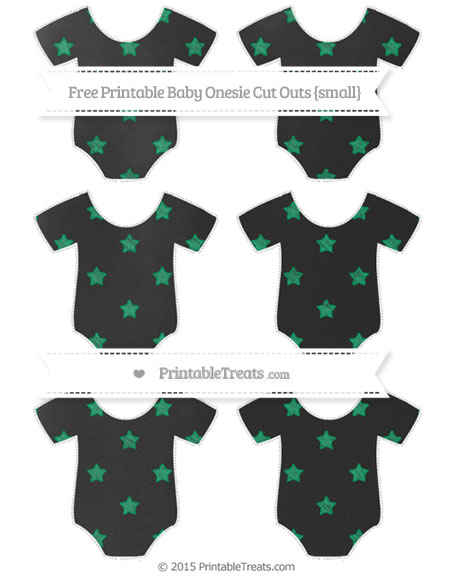 Free Shamrock Green Star Pattern Chalk Style Small Baby Onesie Cut Outs
