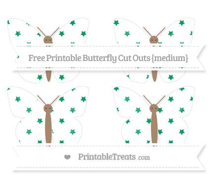 Free Shamrock Green Star Pattern Medium Butterfly Cut Outs