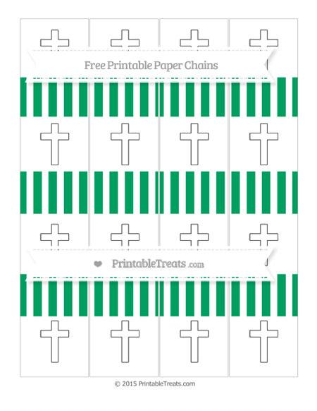 Free Shamrock Green Striped Cross Paper Chains