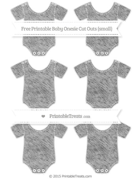 Free Silver Chalk Style Small Baby Onesie Cut Outs