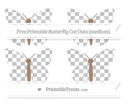 Free Silver Checker Pattern Medium Butterfly Cut Outs