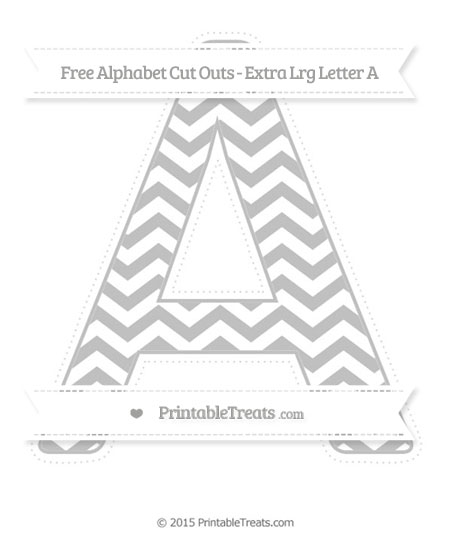 Free Silver Chevron Extra Large Capital Letter A Cut Outs