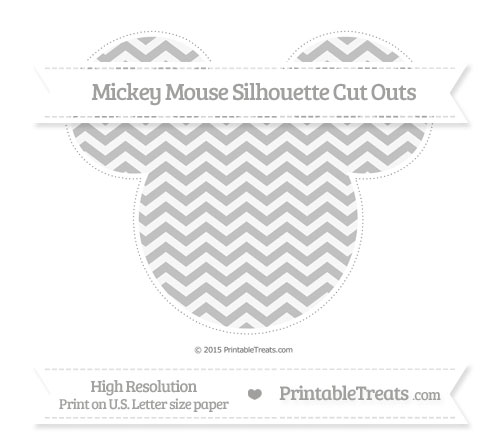 Free Silver Chevron Extra Large Mickey Mouse Silhouette Cut Outs