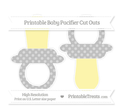Free Silver Dotted Pattern Large Baby Pacifier Cut Outs