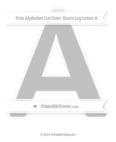 Free Silver Extra Large Capital Letter A Cut Outs