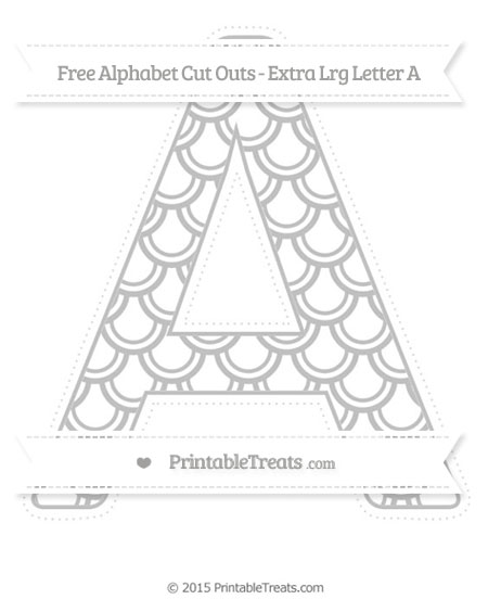 Free Silver Fish Scale Pattern Extra Large Capital Letter A Cut Outs