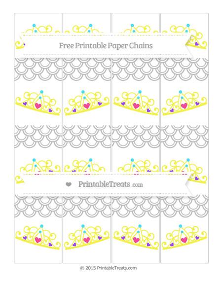 Free Silver Fish Scale Pattern Princess Tiara Paper Chains