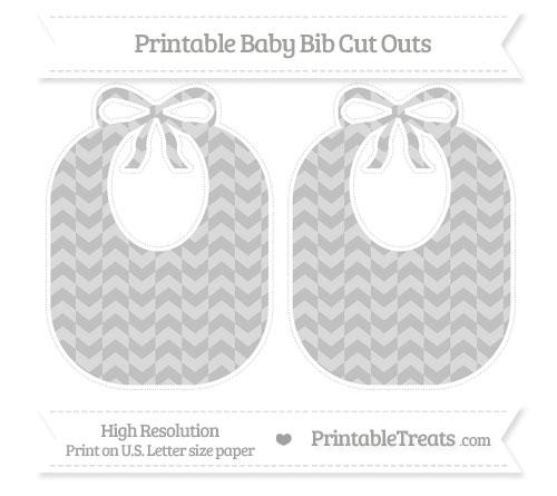 Free Silver Herringbone Pattern Large Baby Bib Cut Outs