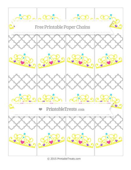 Free Silver Moroccan Tile Princess Tiara Paper Chains