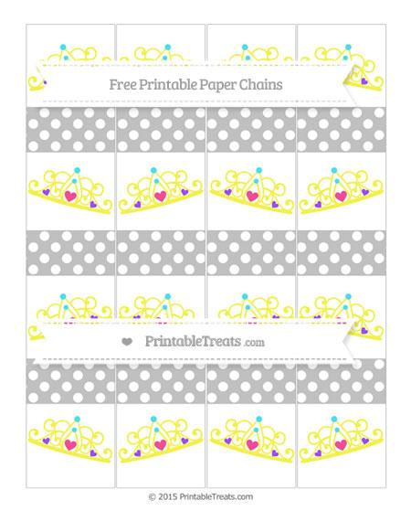 Free Silver Polka Dot Princess Tiara Paper Chains
