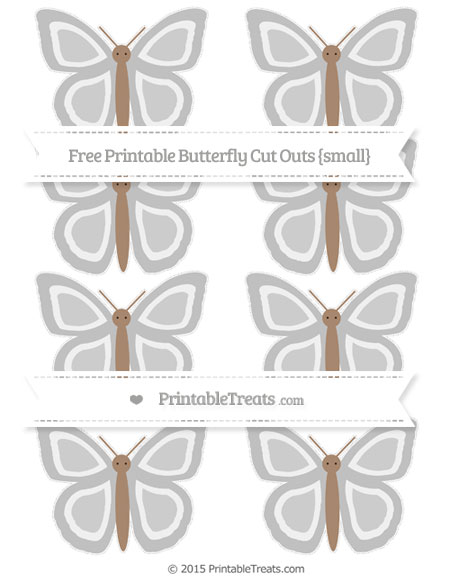 Free Silver Small Butterfly Cut Outs
