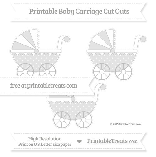 Free Silver Star Pattern Medium Baby Carriage Cut Outs
