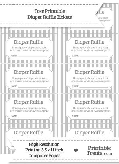Free Silver Striped Diaper Raffle Tickets