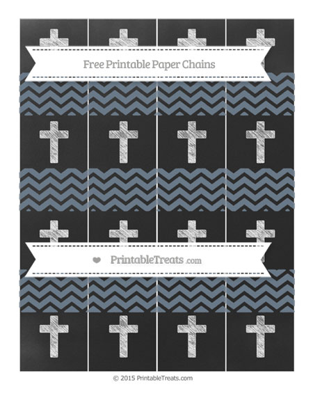Free Slate Grey Chevron Chalk Style Cross Paper Chains