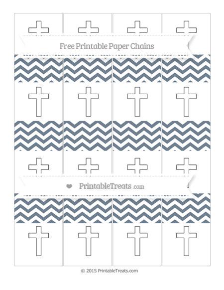 Free Slate Grey Chevron Cross Paper Chains
