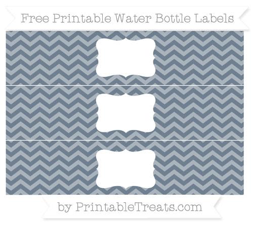 Free Slate Grey Chevron Water Bottle Labels