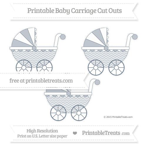 Free Slate Grey Chevron Medium Baby Carriage Cut Outs