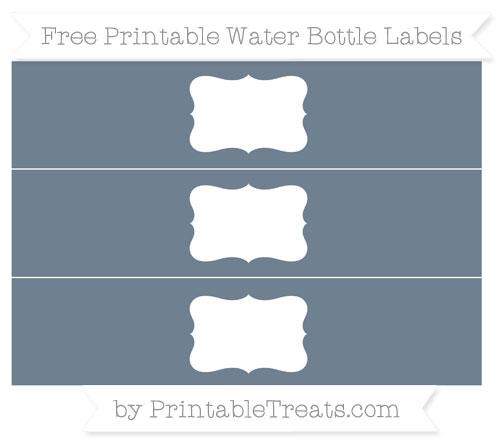 Free Slate Grey Water Bottle Labels