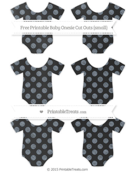 Free Slate Grey Dotted Pattern Chalk Style Small Baby Onesie Cut Outs