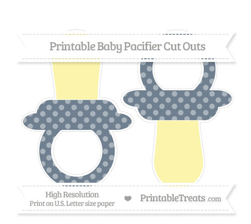 Free Slate Grey Dotted Pattern Large Baby Pacifier Cut Outs