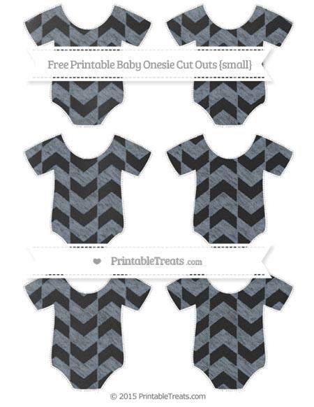 Free Slate Grey Herringbone Pattern Chalk Style Small Baby Onesie Cut Outs