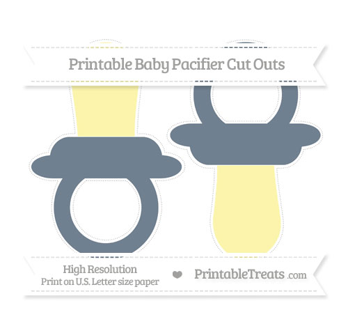 Free Slate Grey Large Baby Pacifier Cut Outs