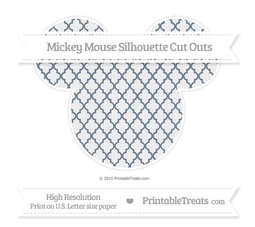 Free Slate Grey Moroccan Tile Extra Large Mickey Mouse Silhouette Cut Outs